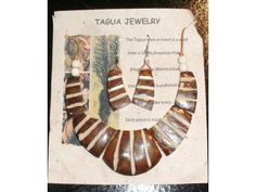 Amazon Queen - Handmade, one of a kind Tagua Nut Jewelry (Palm Ivory) Necklace & Earring Set of 2 - Scentsations