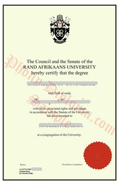 University of south africa unisa fake diploma sample from fake diploma degree transcripts certificates samples from africa college and university yelopaper Images