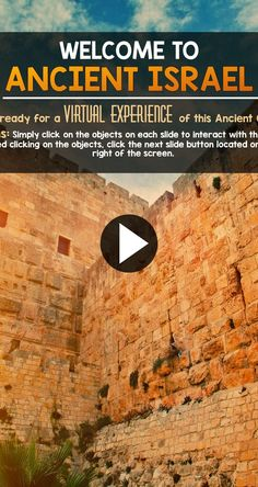 Quite the virtual experience for students… Ancient Israel Interactive PowerPoint! Quite the virtual experience for students. Virtual Travel, Virtual Tour, 6th Grade Social Studies, Virtual Field Trips, Affinity Photo, Teaching History, Ancient History, Israel History, Ancient Aliens