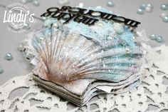 Mixed media mini album @happytin4ik #alteredart #seashell #mixedmedia #mixedmediaart #lindysgang #lindystampgang