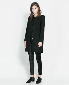 Image 1 of COAT WITH BOX SLEEVE from Zara
