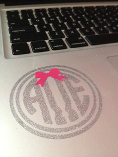 I should get this... Alpha Omega Epsilon Circle Monogram Decal With A by BowsAndClips, $5.00