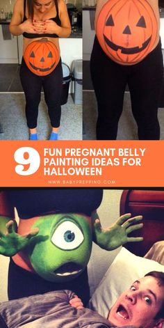 Fun Pregnant Belly Painting Ideas For Halloween 9 Fun Pregnant Belly Painting Ideas For Halloween Halloween Ideas Pregnant Halloween Costumes Maternit.