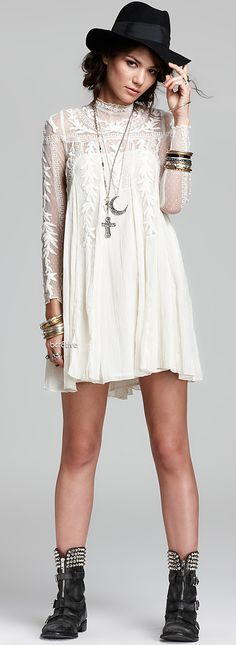 Free People Dress - Write About Love Gauze