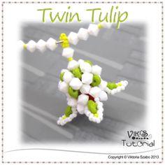 Simple Flower Pendant Tutorial: Twin Tulip