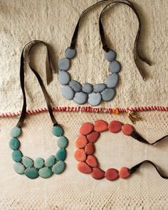 The Andean Collection Accented Tagua Bib Necklace