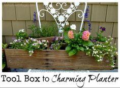 tool box to planter!