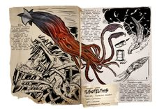 Giant Squid, Fantasy Weapons, Monster Hunter, Ark, Survival, Animals, Notes, Inspiration, Animal Drawings