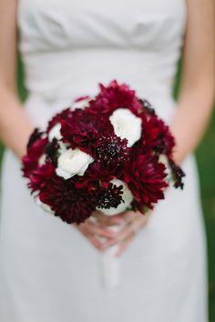 Burgundy Dahlia Bouquet || Amara • Bridal Registry • ||