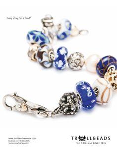 Blue & White Trollbeads Bracelet  @ The Beadcage