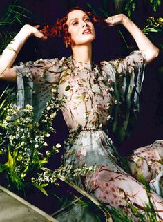 ❀ Flower Maiden Fantasy ❀ beautiful art fashion photography of women and flowers - DolceGabbana Spring Summer 2014