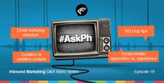#AskPh - Week 19 Inbound Marketing Q&A Video Series. @woodssquared - SEO is hugely important but also hugely confusing! What are your top tips for a business looking to improve their SEO? #AskPh @almackin - You're a big Hubspot fan - what's the best structure for an email nurturing process (timings, type of email etc) @Copify - Should brands focus on curation or creation of original content for social media success? #AskPh @danbellj - Social media ownership for a brand - apprentice or…
