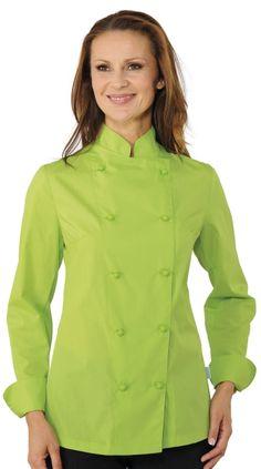 Giacca Slim da Donna Extralight Per Cuoca O Lady Chef Verde Mela 866295690855