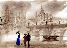 Санкт-Петербург глазами художников Сабир и Светланы Гаджиевых. — El Lucero del Alba inquisitiva