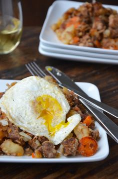 Crock Pot Beef and Bacon Hash by Just a Taste