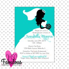 Princess Bride /// Bridal Shower Invitation /// Customizable and PRINTABLE