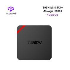 MEMOHi MEMOBOX T95N Android 6.0 Smart TV Box Amlogic S905X 64 bit Quad Core 4K 2K H.265 KODI IPTV Set-top box Mini MX plus