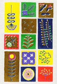 Fall twenty-four years Iida umbrella shop postcard set Heisei