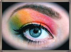 Rain Bow Eye Makeup  Crazy Touch
