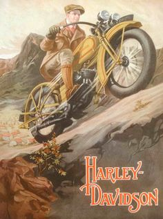 dd0aa8a79d6 Vintage Harley Davidson Poster   Art Poster Suitable for Framing