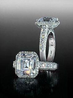 Bez Ambar Asscher Cut Engagement Ring!