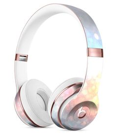 unfocused Multicolor Glowing Orbs of Light Full-Body Skin Kit for the Beats by Dre Solo 3 Wireless Headphones
