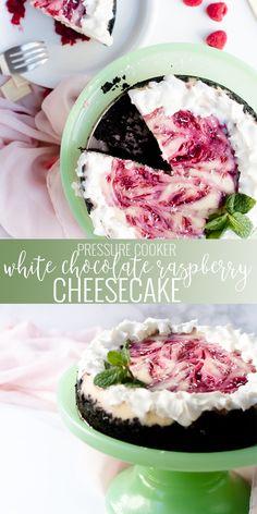 Cheese Cake Raspberry White Chocolate Pies 69 Ideas For 2019 Homemade Desserts, Best Dessert Recipes, Fun Desserts, Sweet Recipes, Delicious Desserts, Dinner Recipes, Health Desserts, Raspberry Cheesecake Cookies, White Chocolate Raspberry Cheesecake