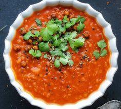 Polévka z červené čočky s rajčaty , Foto: kuchařka Jíme zdravě