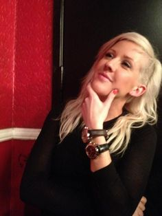 Ellie Goulding and her RAYMOND WEIL watches at the 2012 Elle Women in Music event sponsored by RAYMOND WEIL.