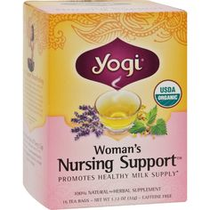 Yogi Organic Woman\'s Nursing Support - 16 Tea Bags - Case Of 6