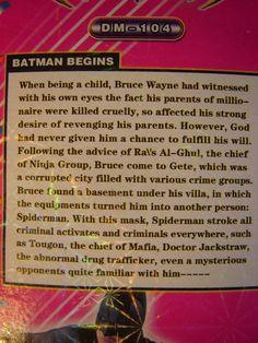 "Chinese Interpretation Of ""Batman Begins"""