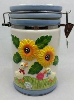RARE - Duck Flower Fine Porcelain Coffee Storage Container Canister  | Home & Garden, Kitchen, Dining & Bar, Dinnerware & Serving Dishes | eBay!