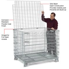 rigid wire mesh containers Storage Pinterest Wire mesh Metal