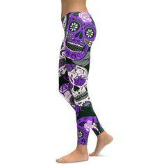 2018 New Gothic Digital Printed Women Leggings Sugar Skull Ombre Printing Fitness Workout Legging Pants Plus Size Leggings Pants