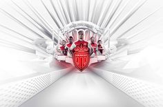 Golden Details for AS Monaco Home Kit by Nike Red And White Shirt, As Monaco, Hd Wallpaper, Home Appliances, Kit, Design, Soccer, News, Sports