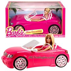 """Product Features - Includes: GLAM CONVERTIBLE (BJP38) with Barbie Doll - Doll measured approximately 12 inch tall - Convertible car measured approximately 14"""" long, 7-1/2"""" wide and 5"""" tall - Produced"""