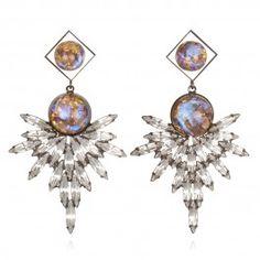 Dannijo. Art Deco meets Futuristic. Future Barbie earrings.