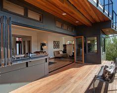 Indoor Outdoor Kitchen Design Ideas, Pictures, Remodel, and Decor Indoor Outdoor Kitchen, Outdoor Kitchen Design, Outdoor Rooms, Patio Kitchen, Bar Kitchen, Indoor Bbq, Patio Bar, Summer Kitchen, Kitchen Living