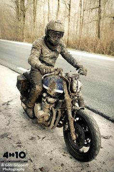 """Conservative biker. """" I didnt see any rain anywhere..but then I got behind a car with an OBAMA sticker?!"""""""