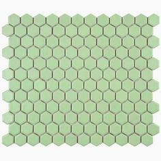 "EliteTile Retro Hexagon 0.875"" x 0.875"" Porcelain Mosaic Tile in Matte Light Green"