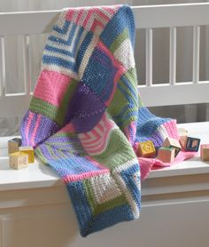 Playful Squares Throw by Lion Brand Yarn (pattern not on Ravelry)