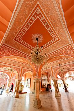 Palacio em Jaipur, estado do Rajastao, India. Fotografia: no Indulgy. Indian Architecture, Beautiful Architecture, Beautiful Buildings, Ancient Architecture, City Architecture, Goa India, Oh The Places You'll Go, Places To Travel, Nepal