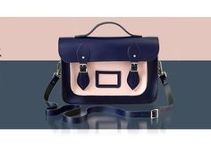 The Cambridge Satchel Company  navy and pink peach