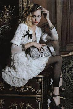 Chanel Campaign: Model: Alice Dellal: Photographer: Karl Lagerfeld