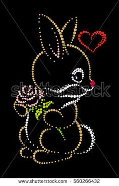 Find Hare Love stock images in HD and millions of other royalty-free stock photos, illustrations and vectors in the Shutterstock collection. Thousands of new, high-quality pictures added every day. Diy Bead Embroidery, Embroidery Cards, Embroidery Patterns, Hand Embroidery, Dot Art Painting, Fabric Painting, Stone Painting, Mickey Mouse Art, Canvas Art Projects