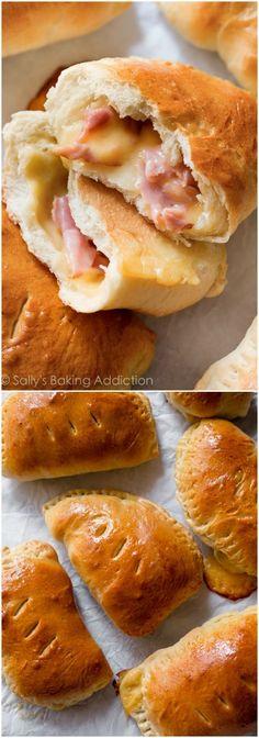 Freezer-friendly comfort food goodness! Homemade Hot Pockets on sallysbakingaddiction.com
