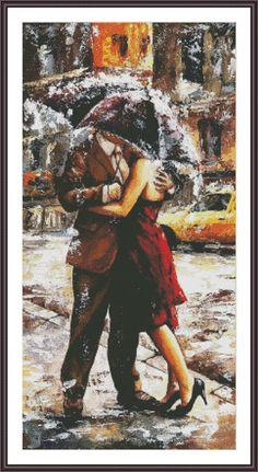 Cross Stitch Pattern Romance Painting Romantic by ZAnnaCrossStitch