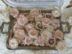 Fabric Flowers for Wedding Decorations by BurlapandBlingStudio, $72.00 oh boy!! steph!!