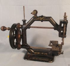 Antique Johnson Clark Co Gold Medal Crank Sewing Machine Octagonal 1870's Fix | eBay