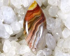 African Red Lace Agate Designer Cut Cabochon